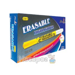 Маркер текстовый с ластиком 1110-2561 Erasable Highlighter желтый