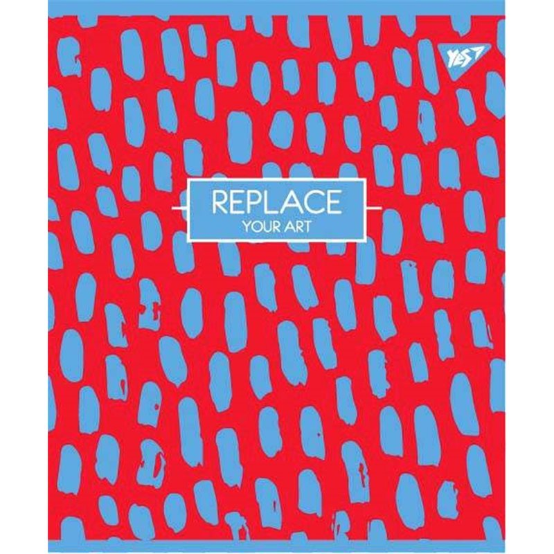 "Фото Тетрадь для записей А5/48 кл. YES ""REPLACE"" мат. ВДЛ+пантон+эмбоссинг (764341) [4823092248572]"