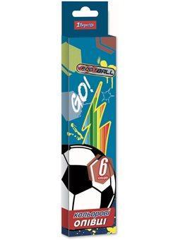 "Карандаши 1 Вересня 6 цв. ""Team football"", пласт. корп. (290630) [5056137176441]"