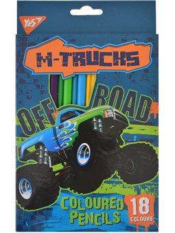 """Карандаши 18 цв. """"M-Trucks"""" (290543) [5056137194407]"""