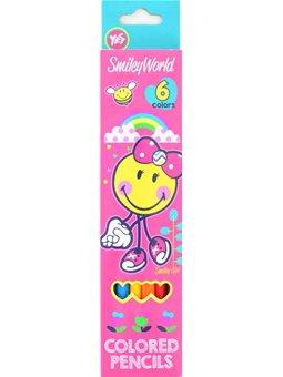 "Карандаши 6 цв. ""Smiley World""(pink) (290399) [5056137112869]"