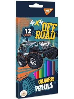 "Карандаши цветные YES 12 цв. ""Off Road"" (290585) [5056137175079]"
