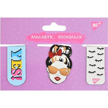 """Закладки магнитные YES""""Fashion"""", фольга, 3шт (707003) [5056137159130]"""