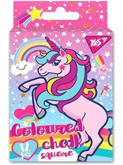 "Мел YES цветной квадратный 12 шт. ""Unicorn"" (400394) [4823091908408]"