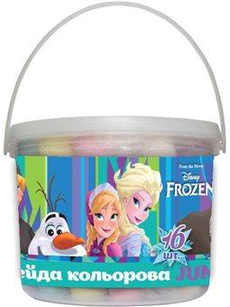 "Мел цветной 16 шт. JUMBO в ведре ""Frozen"" (400345) [4823091904745]"
