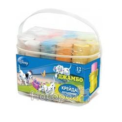 Мел цветной Disney Джамбо 12 цв (асфальт)