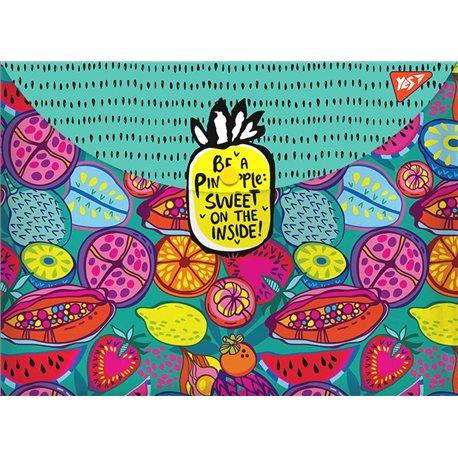 "Папка-конверт на кнопке А4 ""Exotic fruits"" (491639) [5056137198214]"