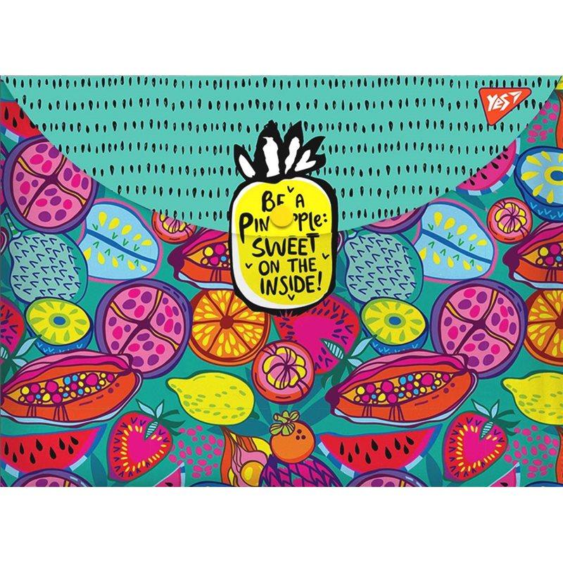 """Фото Папка-конверт на кнопке А4 """"Exotic fruits"""" (491639) [5056137198214]"""