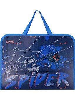 """Папка-портфель 1Вересня на молнии с тканевыми ручками """"Spider"""" (491857) [5056137184583]"""