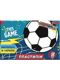"Пластилин 1Вересня 18 цв. ""Team football"", Украина (540554) [4823091909009]"