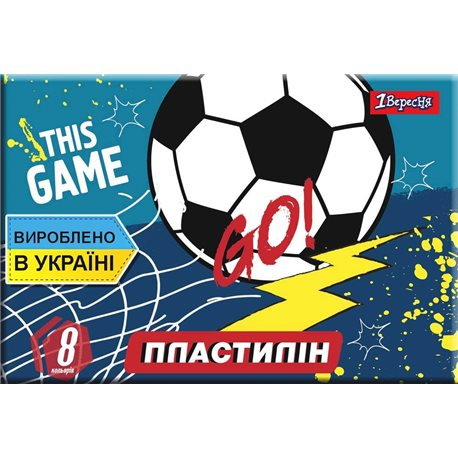 "Пластилин 1Вересня 8 цв. ""Team football"", Украина (540556) [4823091908972]"