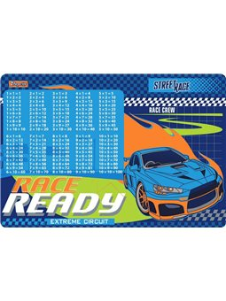 """Подложка для стола 1Вересня детская """"Street race"""" (табл.умножения) (491863) [5056137184507]"""