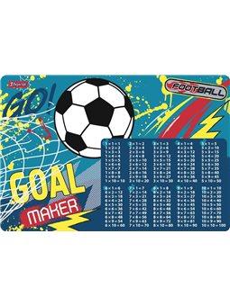 """Подложка для стола 1Вересня детская """"Team football"""" (табл.умножения) (491866) [5056137184422]"""