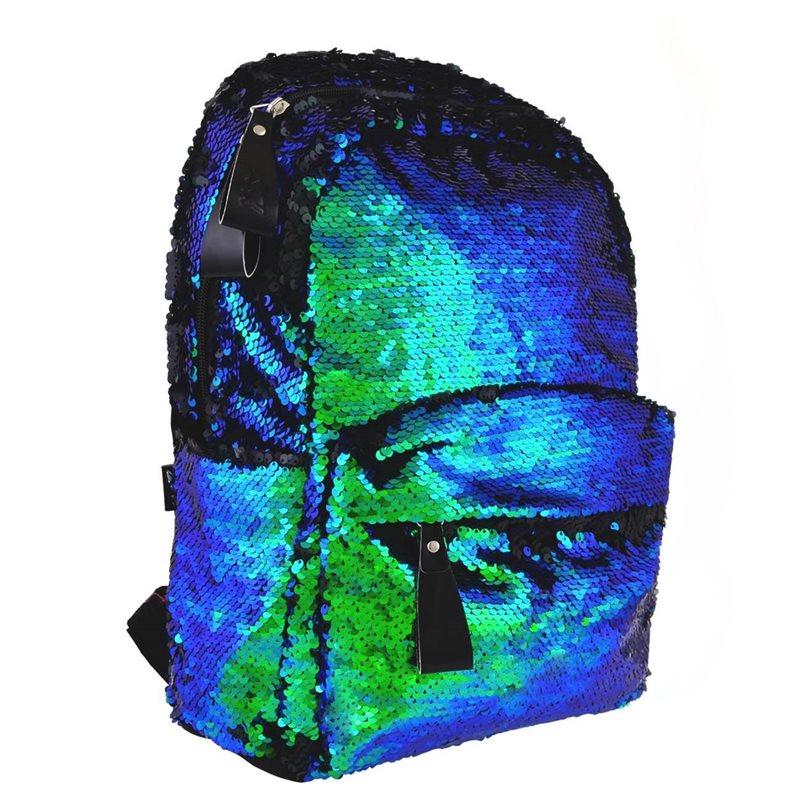 "Фото Рюкзак молодежный YES з пайетками GS-01 ""Green chameleon"" (557678) [5056137199532]"