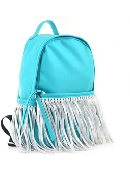 Сумка-рюкзак YES, мятный с бахромой, 36*26*11 (554197) [5060487839123]