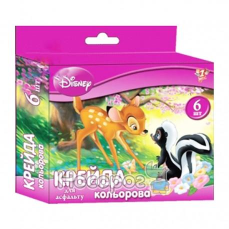 Мел в наборе 6 цветов Disney 400054 для асфальту