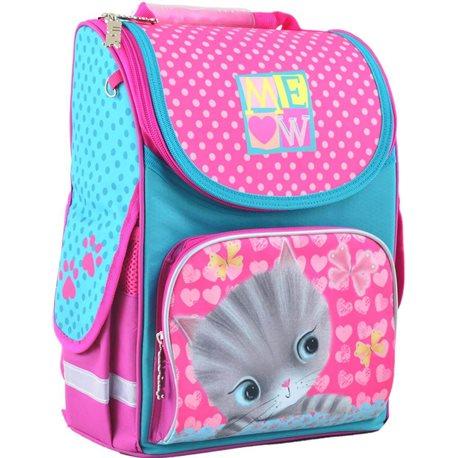 Рюкзак школьный каркасный 1 Вересня H-11 Cat, 33.5*26*13.5 (555294) [5056137119622]