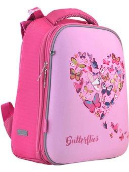 """Рюкзак школьный каркасный 1 Вересня H-12 """"Delicate butterflies"""" (556040) [5056137137152]"""