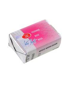 Краска акварельная КЮВЕТА, розовая, 2.5мл ЗХК (351208) [4640000670047]