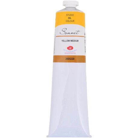 Краска масляная СОНЕТ желтая средняя, 120мл ЗХК (352792) [4690688008472]