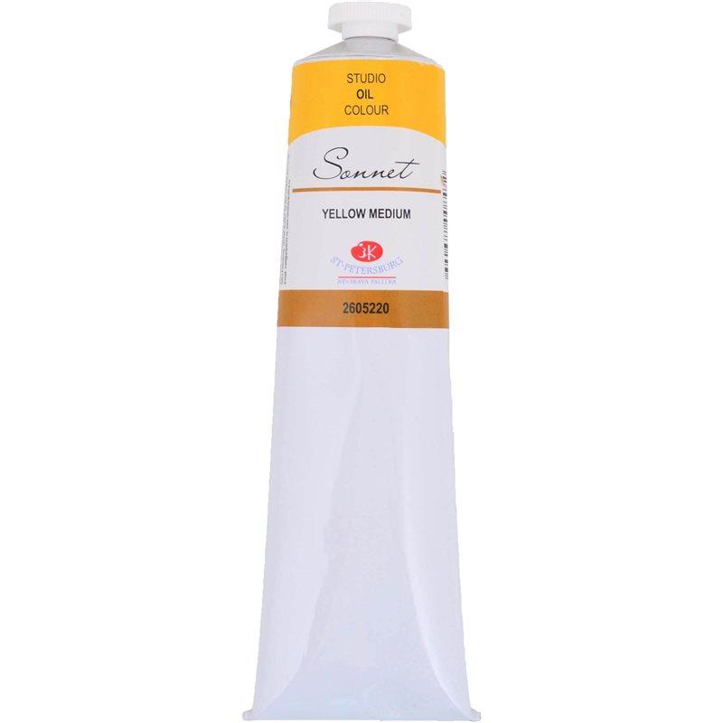 Фото Краска масляная СОНЕТ желтая средняя, 120мл ЗХК (352792) [4690688008472]