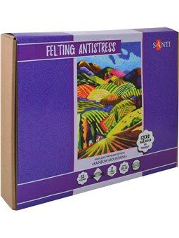 Набор для создания картины «Rainbow Mountains», техника валяния, 38*30 см. (742427) [5056137194926]