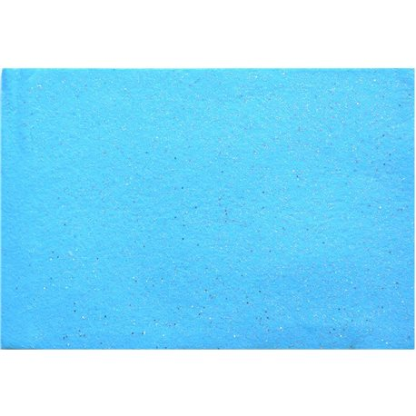 Набор Фетр Santi мягкий с глит., голубой, 21*30см (10л) (741810) [5056137131945]