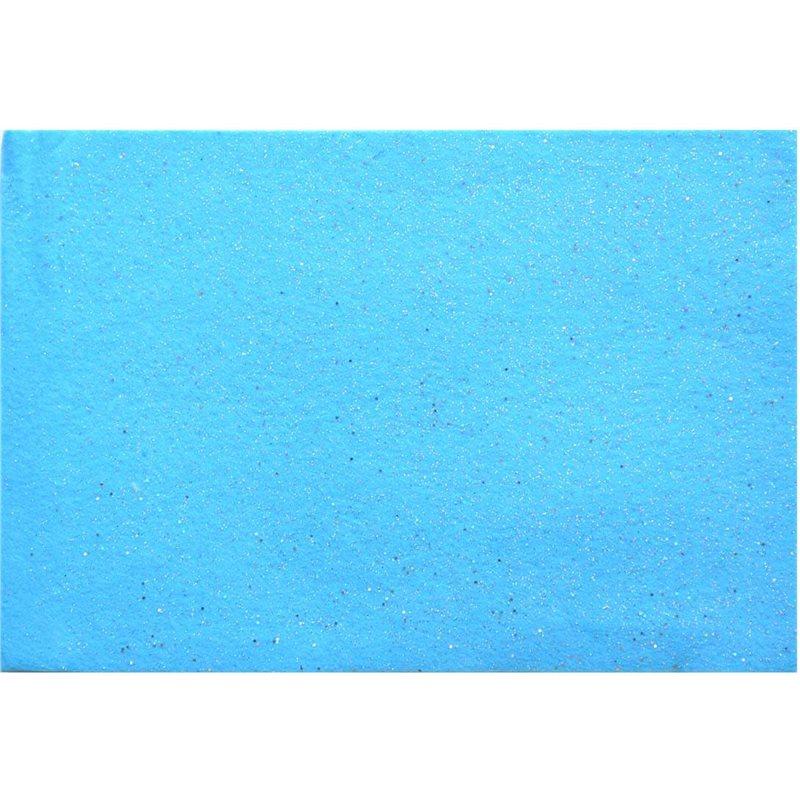 Фото Набор Фетр Santi мягкий с глит., голубой, 21*30см (10л) (741810) [5056137131945]