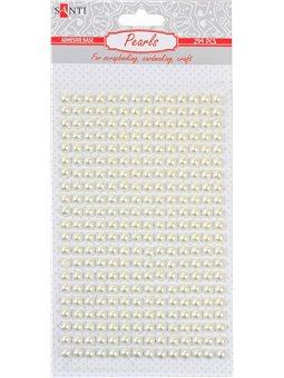 Набор жемчужин Santi самоклеящихся «White pearls», 294 шт. (742530) [5056137186709]