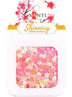 """Микро-пайетки Santi """"Floral mix"""", 12 грамм. (741485) [5056137110612]"""