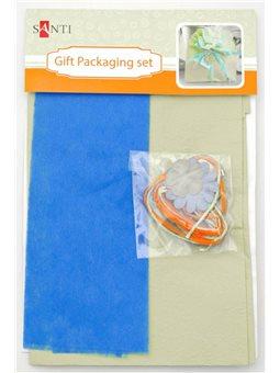 Набор для упаковки подарка, 40*55см, 2шт/уп., бирюзово-салатовый (952061) [5009079520612]