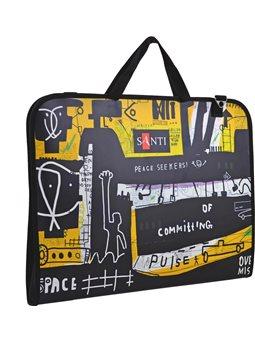"""Папка-портфель SANTI для эскизов А3, """"Graffiti"""", (367*30*495мм) (491688) [5056137135509]"""