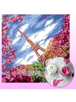 Креативное творчество PAINTING BY NUMBERS эконом №2 Париж KpNe-02-02