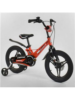 """Велосипед 16"""" дюймов 2-х колёсный """"CORSO"""" MG-45105 (1) ОРАНЖЕВЫЙ, МАГНИЕВАЯ РАМА, ЛИТЫЕ ДИСКИ, ДИСКОВЫЕ ТОРМОЗА [6800077451054]"""