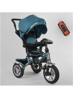 Велосипед 3-х колёсный 5890 / 80-601 Best Trike (1) ФАРА C USB, ПОВОРОТНОЕ СИДЕНИЕ, СКЛАДНОЙ РУЛЬ, Рус.озвучка, НАДУВНЫЕ КОЛЕСА,