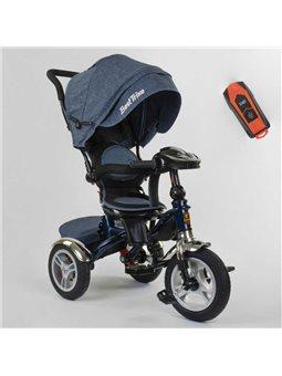 Велосипед 3-х колёсный 5890 / 84-710 Best Trike (1) ФАРА C USB, ПОВОРОТНОЕ СИДЕНИЕ, СКЛАДНОЙ РУЛЬ, Рус.озвучка, НАДУВНЫЕ КОЛЕСА,