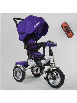 Велосипед 3-х колёсный 5890 / 85-975 Best Trike (1) ФАРА C USB, ПОВОРОТНОЕ СИДЕНИЕ, СКЛАДНОЙ РУЛЬ, Рус.озвучка, НАДУВНЫЕ КОЛЕСА,
