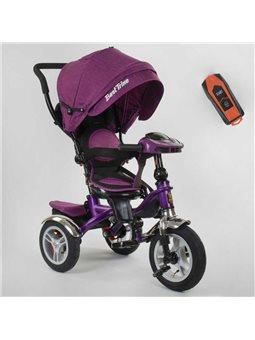 Велосипед 3-х колёсный 5890 / 86-315 Best Trike (1) ФАРА C USB, ПОВОРОТНОЕ СИДЕНИЕ, СКЛАДНОЙ РУЛЬ, Рус.озвучка, НАДУВНЫЕ КОЛЕСА,
