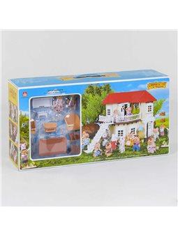 """Домик """"Счастливая семья"""" 012-01 (6) мебель, 2 фигурки, подсветка, в коробке [6977494350130]"""