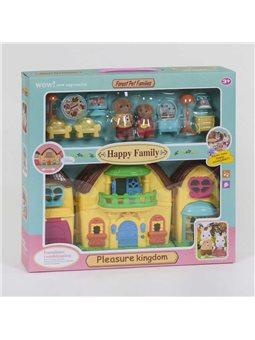 """Домик """"Счастливая семья"""" 20030 (36/2) 2 фигурки флоксовые, с мебелью, подсветка, звуковые эффекты, в коробке [6983313400283]"""