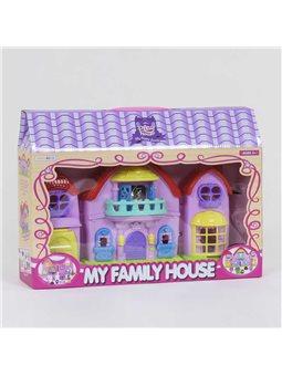Домик кукольный 8200-6 (30/2) свет, песня, 2 куколки, в коробке [6983454353325]