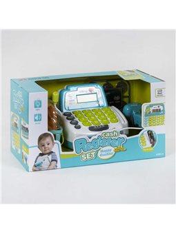 Кассовый аппарат 35532 А (12) свет, звук, микрофон, сканер, корзинка с продуктами, в коробке [6965539400360]