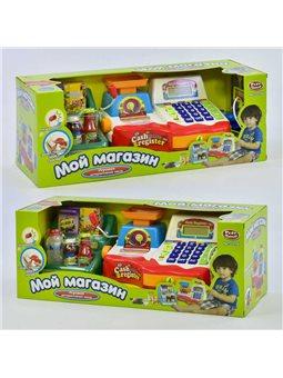 Кассовый аппарат 7256 (12/2) с весами, пластм. продуктами, в коробке [6965539052323]