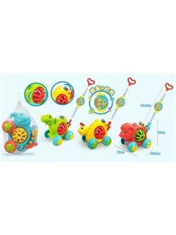 Каталка 58511 - D 0330-0333 (72) 4 вида, свет, звук, в кульке [6968148100225]