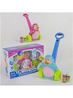"""Каталка с мыльными пузырями """"Пингвин"""" FH 776 (18) 2 цвета, мелодия, подсветка, коробке [6974164190171]"""