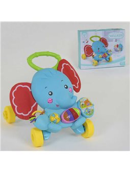 """Каталка-ходунки музыкальная """"Слон"""" HY 68112 (12) подсветка, звуки, мелодии, в коробке [6974654550027]"""