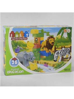 """Конструктор JDLT 5033 (36/2) """"Зоопарк"""", 26 деталей, в коробке [6968703264973]"""