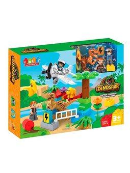 Конструктор JDLT 5410 (12/2) Динозавры, 36 деталей, 2 фигурки, в коробке [6968703264799]