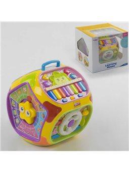 Куб музыкальный 1805 (6) обучающий, подсветка, 7 граней, англ.озвучивание, в коробке [6966905050318]