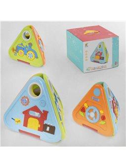 """Куб музыкальный 6628 """"Домик"""" (6/2) раскладывается, 6 игровых граней, подсветка, англ.озвучивание, 30 колыбельных, в коробке [697"""